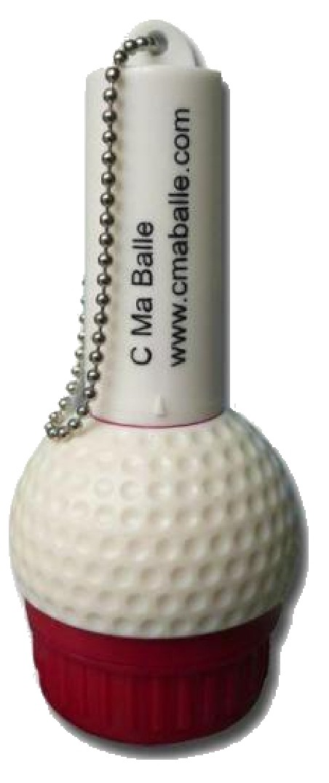 encreur pour balle de golf rechargeable