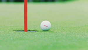 The remote-controlled golf ball